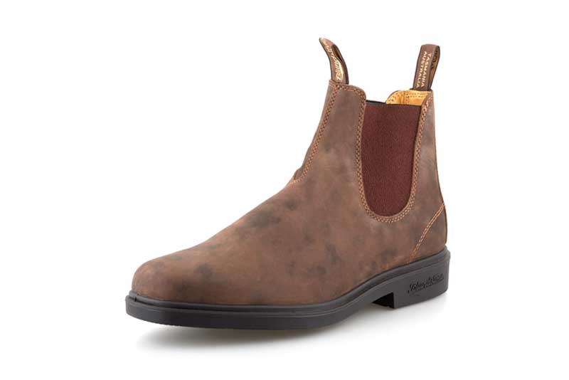 Blundstone 1306 Nubuck-Rustic Brown Slip-On Dress Boot