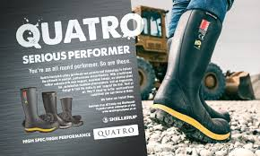 Quatro Safety Gumboot Size 12 & 13 only